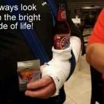 CHUCKLE-beer arm